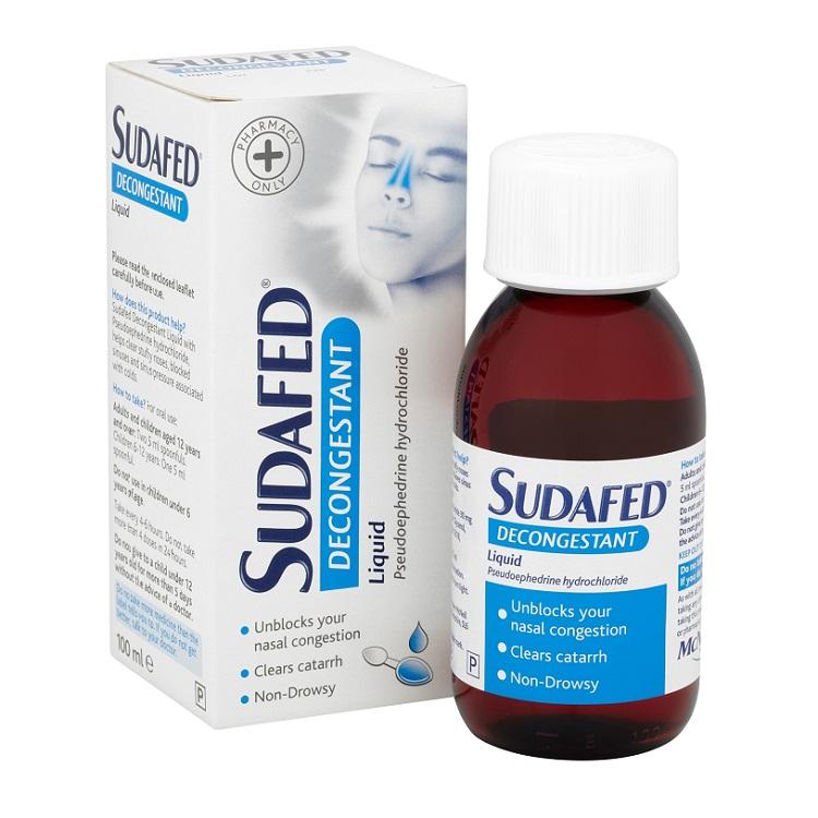 Buy Sudafed Decongestant Liquid 100ml Online Chemist Co Uk