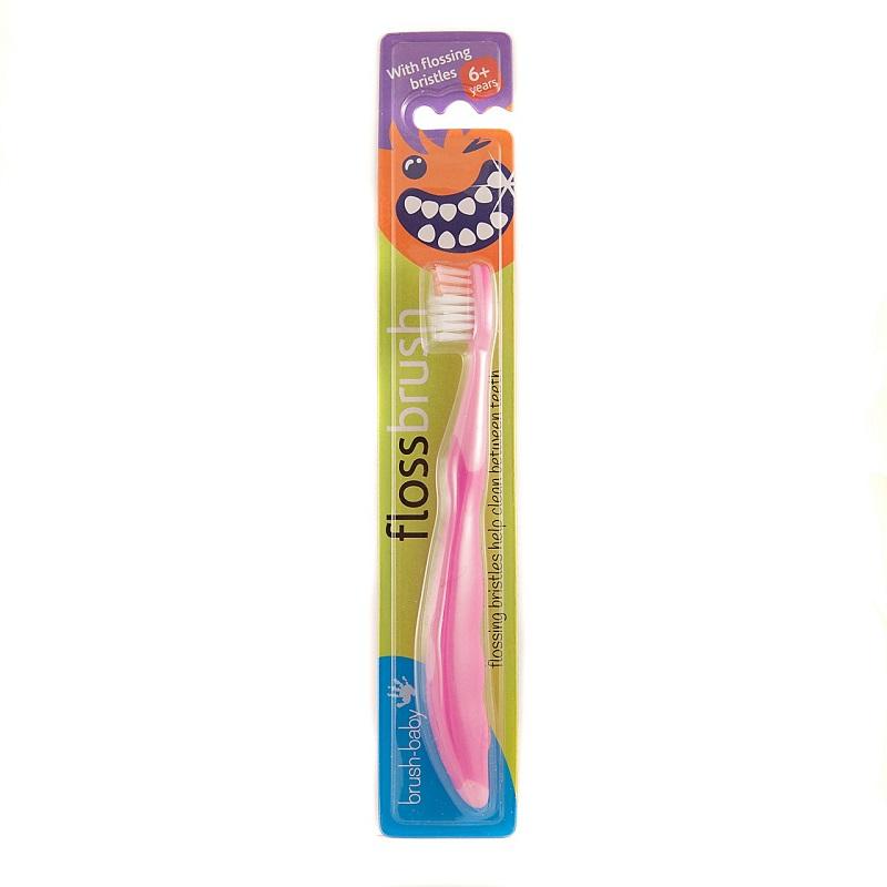 Brush-Baby Floss Brush 6+ Years Pink