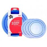Tommee Tippee Essential 3 Feeding Plates 12m+ BLUE