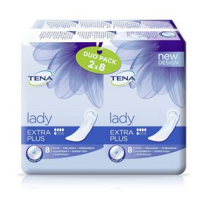 TENA Lady Extra Plus Duo Pack 2x8