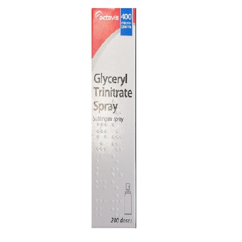 Buy Glyceryl Trinitrate Spray 400mg 200 Doses Online