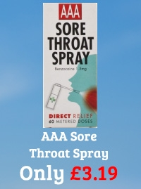 AAA Sore Throat Spray 60 Sprays
