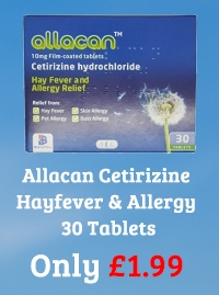 Allacan Cetirizine Hayfever & Allergy 30 Tablets