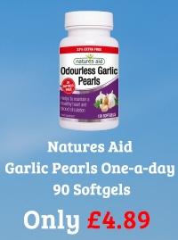 Natures Aid Garlic Pearls One-a-day 90 Softgels