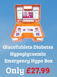 GlucoTablets Diabetes Hypoglycaemia Emergency Hypo Box