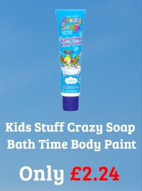 Kids Stuff Crazy Soap Blue Bath Time Body Paint 150ml