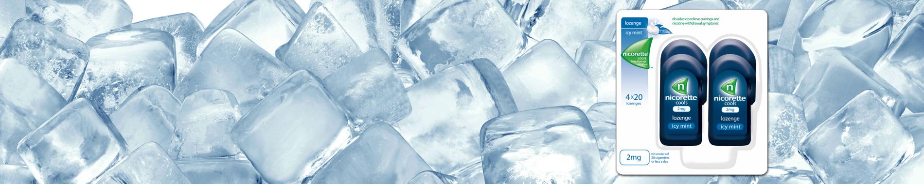 Nicorette Cools Lozenge Icy Mint 2mg 80 Lozenges