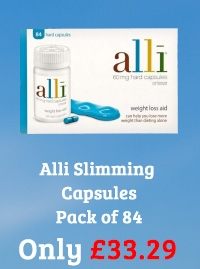 Alli Slimming Capsules (Orlistat 60mg) Pack of 84